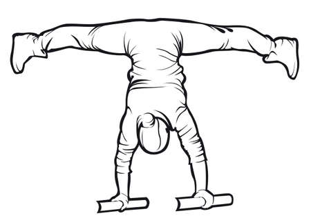 Sporty female doing a workout exercise Illustration