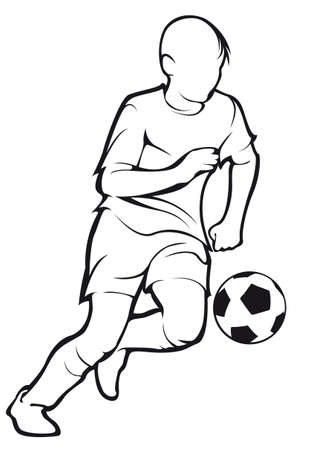 Kind speelt voetbal Stock Illustratie