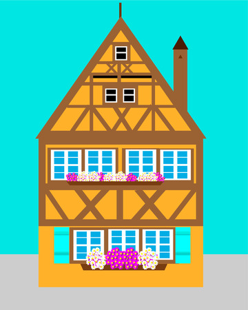 European house  vector illustration Ilustracja