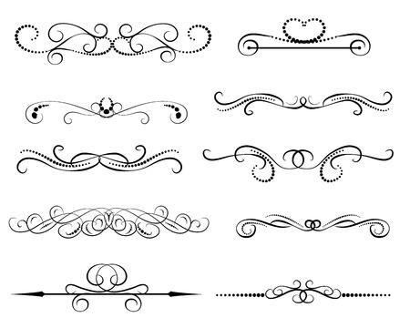 Conjunto de divisores decorativos florish, bordes