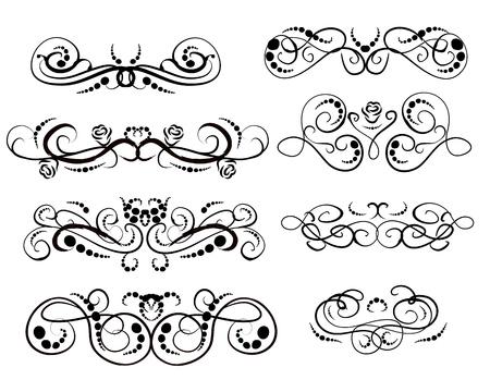 Ensemble de diviseurs fleuris décoratifs, bordures