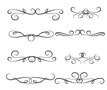 Set of decorative florish dividers borders