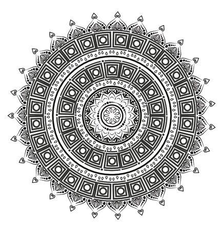 Mandala. Round form. Mehndi decoration. Vecteurs