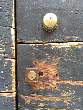 손잡이가 달린 문