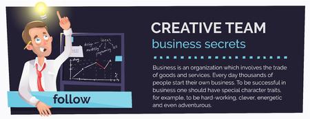 web banner online business courses, webinars. man-idea