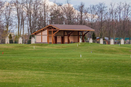 private club: private golf field can be used as background