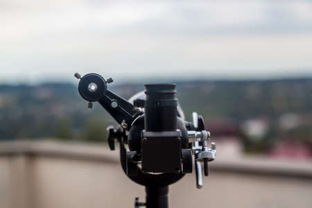 aiming: telescope on the roof as personal observation point