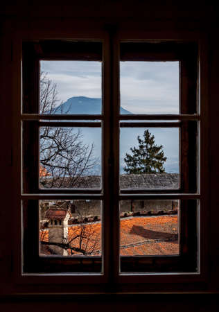 thru: view thru the window