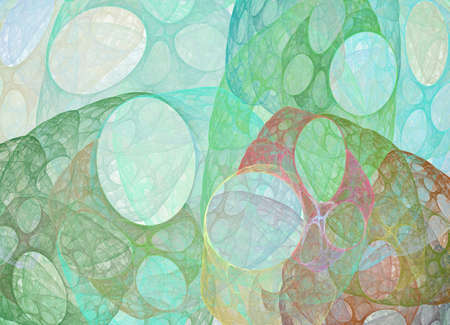deepness: abstract fractal bubble pattern can be used as background
