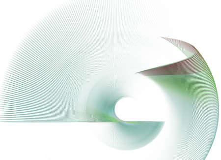 rotational: abstract rotational fractal texture on white background Stock Photo
