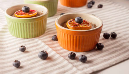 blueberry muffin: home made desserts Stock Photo