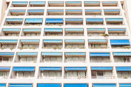 sea summer sanatorium facade Stock Photo