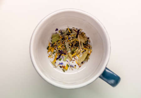 cup with herbs