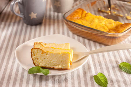 appetizing cottage cheese casserole and cups
