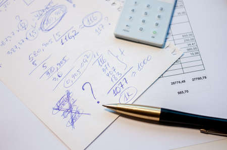 develope: business plan calculation Stock Photo