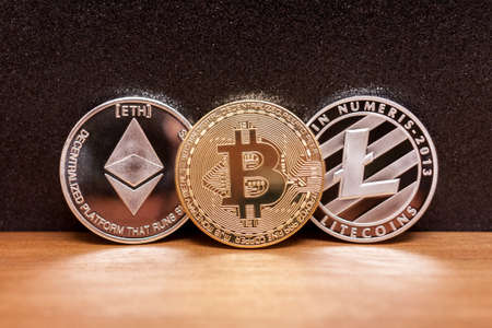 three coins bitcoin ligtecoin ethereum