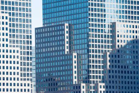 New Yorker Wolkenkratzer aus Glas, Metall und Gebäuden, Betondschungel