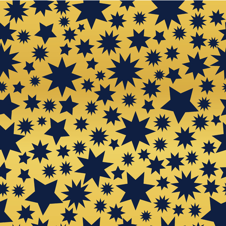 Dark Blue stars on a golden background. Illusztráció