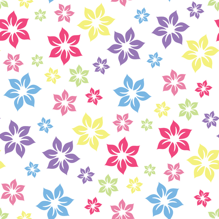 Colourful summery floral pattern .