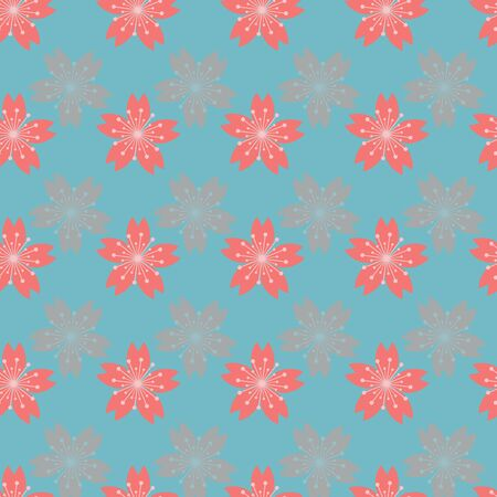 Beautiful cherry blossom seamless pattern background. Perfect for web background and for stationary , textile and home decor projects.
