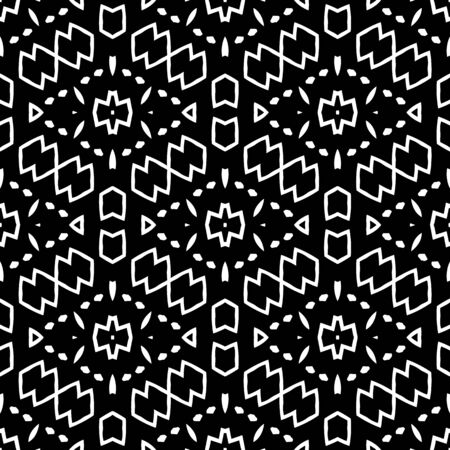 Beautiful abstract tribal inspired geometric vector pattern background.