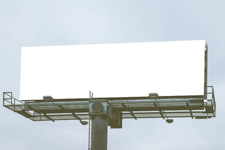 show bill: big Blank white billboard Ready for product display montage advertisement.