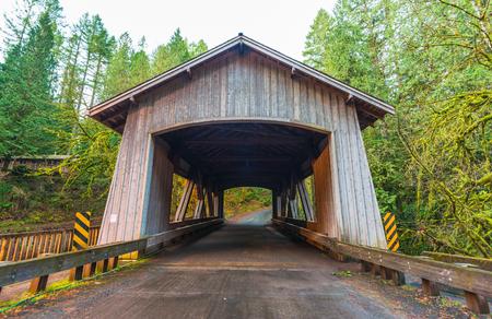 tranfer: bridge house shape,scene of the Cedar creek grist mill in the morning,Washington,usa.
