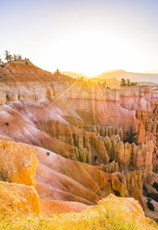 Bryce canyon national park,when sunrise,Utah,usa. Stock Photo