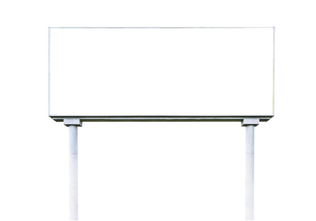 billboard background: blank  white billboard for outdoor advertising  on white background,ready for product display montage,advertisement.