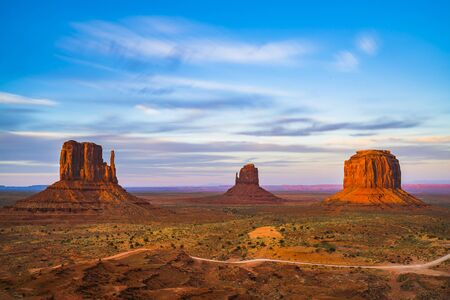 overlook  view of Monument valleys in the sunset,Arizona,usa.