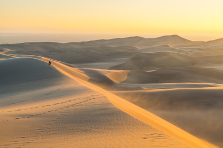 Great sand dune national park at sunset,Colorado,usa.