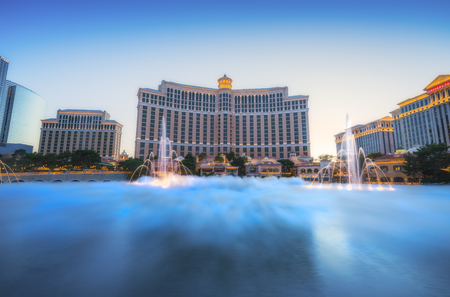 Las vegas,Nevada,usa. 052817 : fountain shows at Bellagio casino resort ,Las vegas,Nevada,usa.