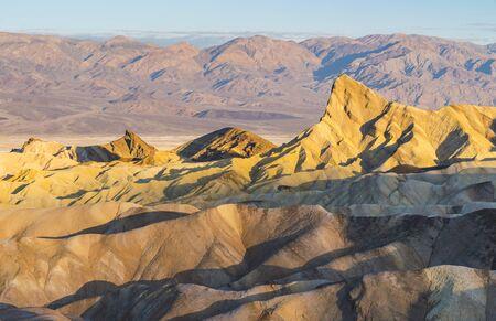 zabriskie point at sunset,death valley national park,california,usa. Stock Photo
