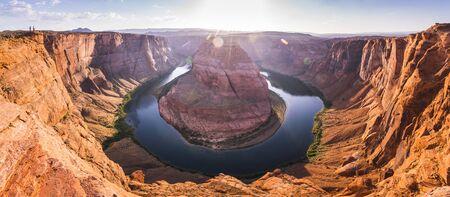 beautiful horseshoe bend at sunset ,page,arizona,usa.