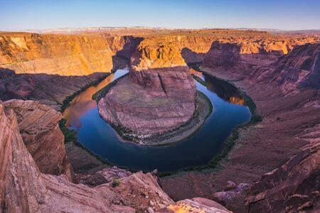 beautiful horseshoe bend at sunrise ,page,arizona,usa.