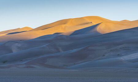 Great sand dune national park at sunrise,Colorado,usa.