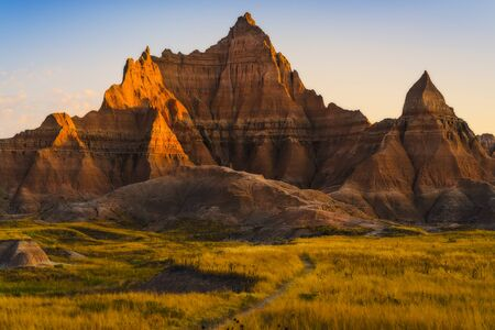 beautiful landscapes in Badlands national park,South dakota,usa.