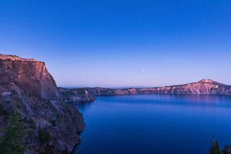 scenic view at dusk in Crater lake National park,Oregon,usa.