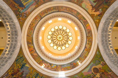 scenic view of interior of the dome roof in salt lake city hall,Utah,usa. shoot in 28/06/15 -for editorial use only. Editorial