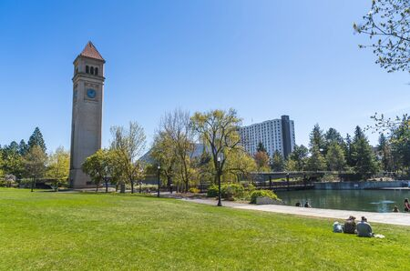 watch tower in Riverfront Park on the sunny day,Spokane,Washington,usa.   for edityorial use only  04/17/16.