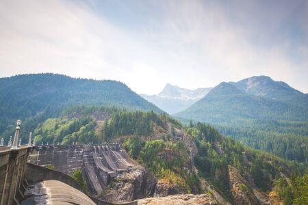 diablo dam,North Cascade National park,Washington,usa. Фото со стока