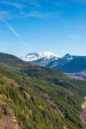scenic view of mt st Helens with forest valley ,Washington,usa.