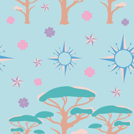Light blue Lucky Symbols seamless background pattern. Works as a background for many creative projects.