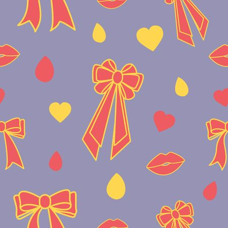 Valentines day related symbols and icons pattern collection