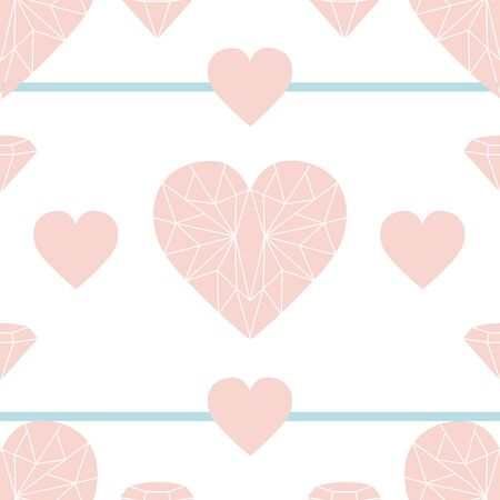 Light pink geometric hearts. Heart symbolizes love and peace. Can be used on multitudes of creative projects.