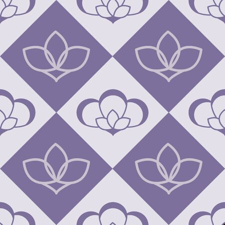 Flowers Nature Collection Illustration Seamless Pattern Background 02