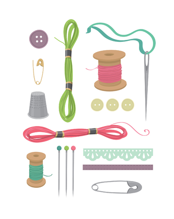 Sewing vector set part 1 Illustration