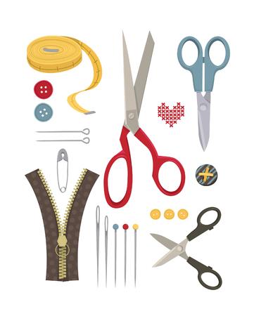 fastener: Sewing vector set part 2 Illustration