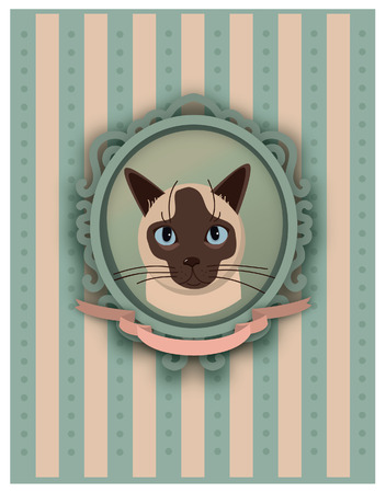 The portrait of a cat in vector