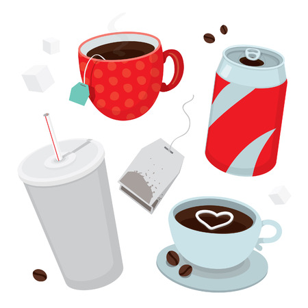 soft object: Drinks vector set